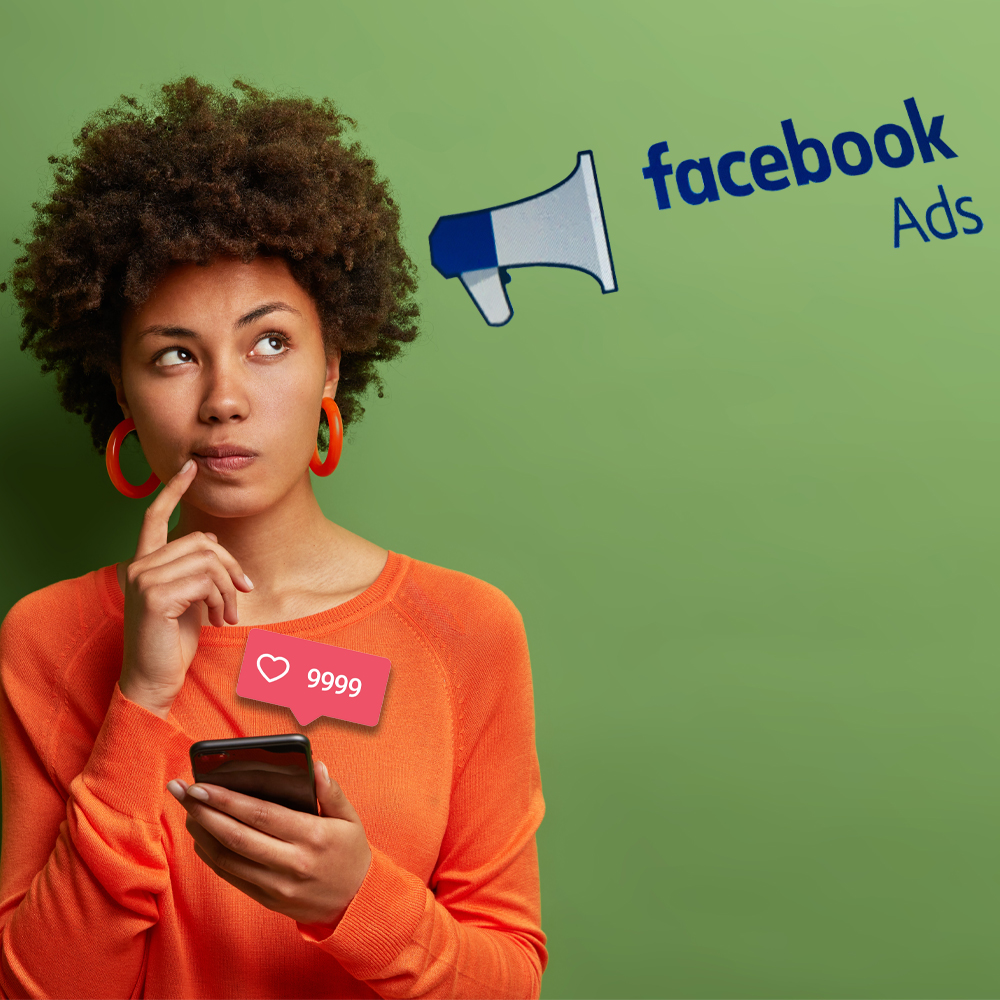 Business owner conjuring marketing campaigns wiht Facebook ads